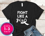 Pink October Fight Like A Girl T-Shirt - Awareness Support Shirt