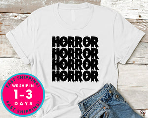 Horror Movies Blood T-Shirt - Halloween Horror Scary Shirt