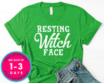 Resting Witch Face T-Shirt - Halloween Horror Scary Shirt