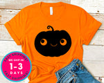 Halloween Smiling Pumpkin Face T-Shirt - Halloween Horror Scary Shirt
