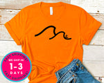 Happiness Comes In Waves Double Waves T-Shirt - Sports Shirt