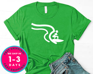 Surfer Girl Happiness Comes In Waves T-Shirt - Sports Shirt