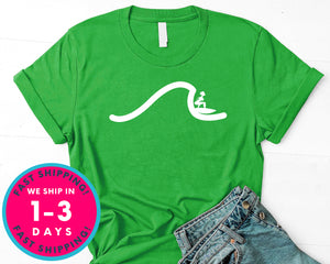 Surfer Girl Waves T-Shirt - Sports Shirt