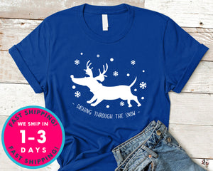 Dashing Through The Snow T-Shirt - Christmas Shirt