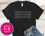Gratitude T-Shirt - Autmn Fall Thanksgiving Shirt