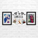 Love & Hearts Photo Wall, Size 3x1 Feet