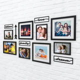 Family Words Photo Wall, Size 4x2 Feet