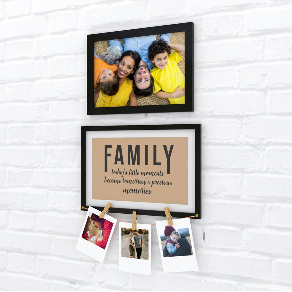 Family Quote Photo Wall, Size 2x1 Feet