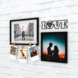 Love+Clips Photo Wall, Size 2x1 Feet