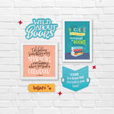 2ftx2ft Books Theme DIY Wall Decor Front View