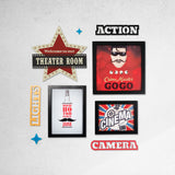 2ftx2ft Cinema Theme DIY Wall Decor Front View