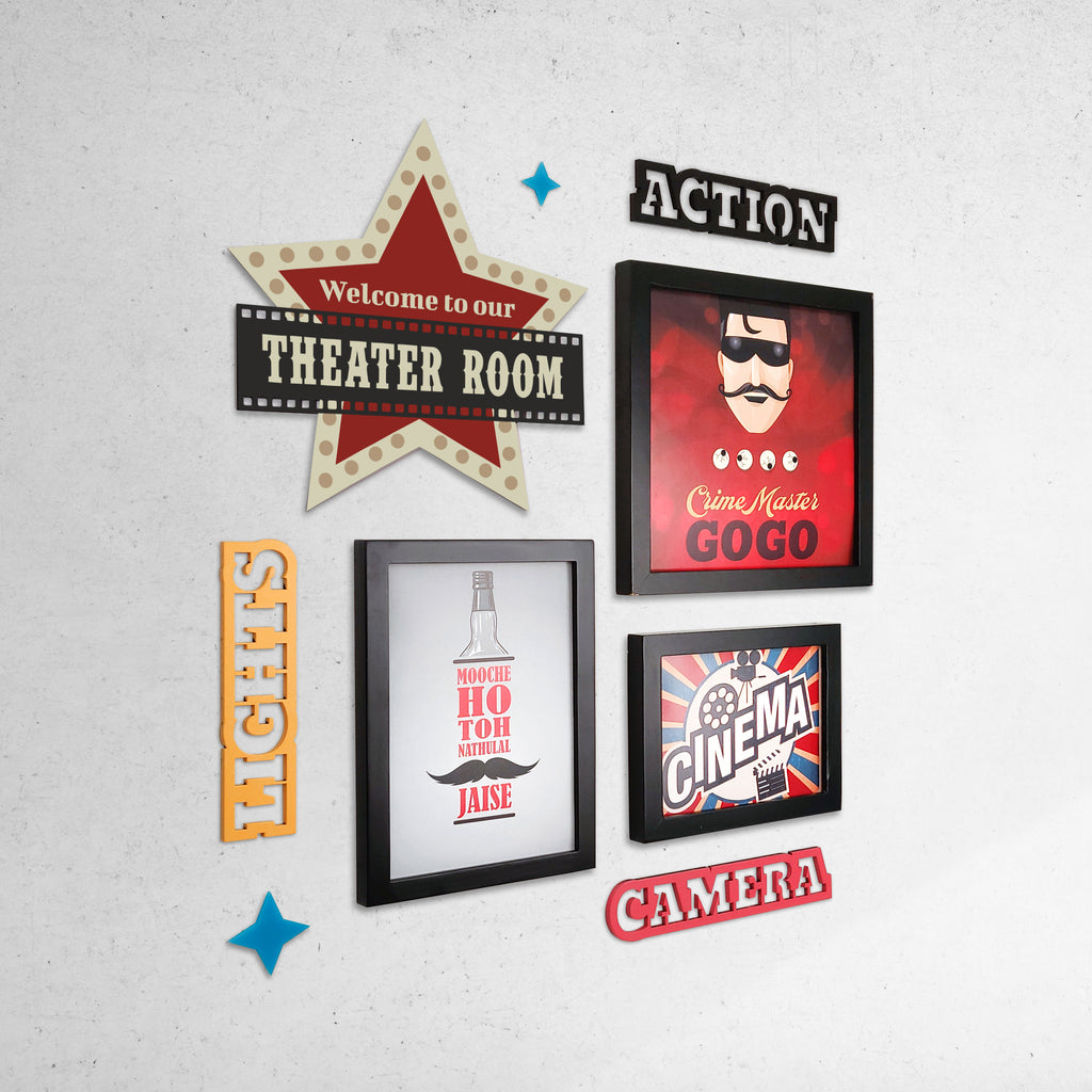 2ftx2ft Cinema Theme DIY Wall Decor Left View