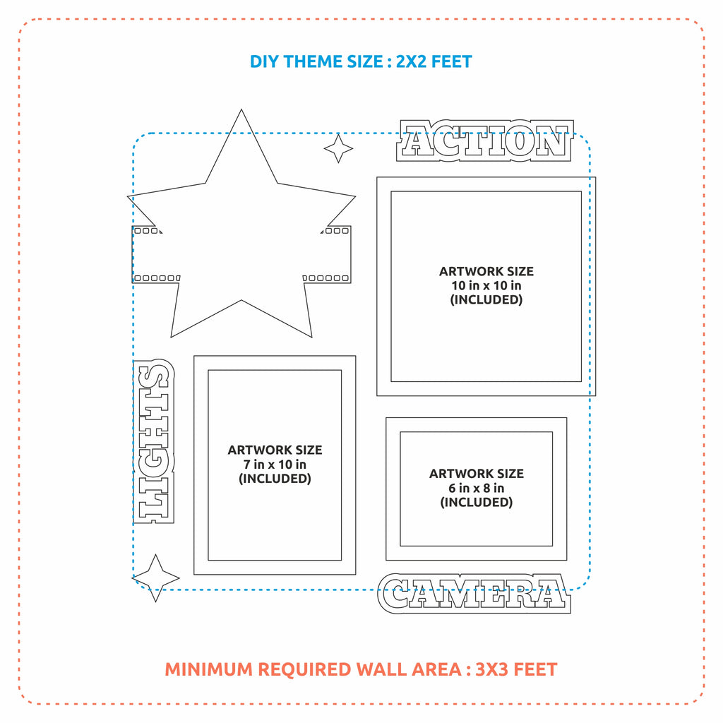 2ftx2ft Cinema Theme DIY Wall Decor Map