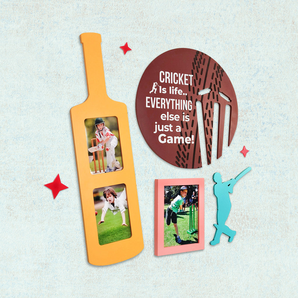 2ftx2ft Cricket Theme DIY Wall Decor Left View