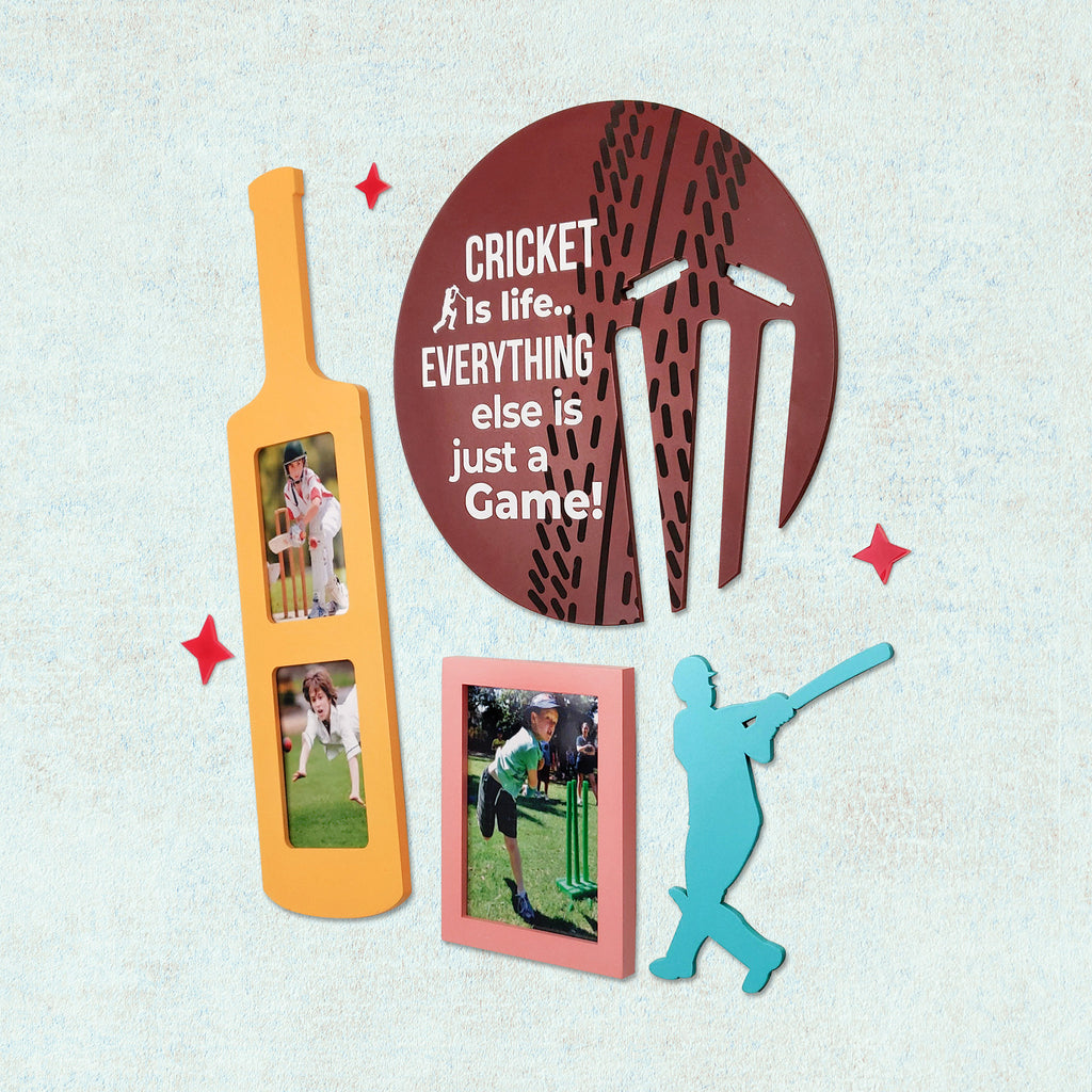 2ftx2ft Cricket Theme DIY Wall Decor Right View
