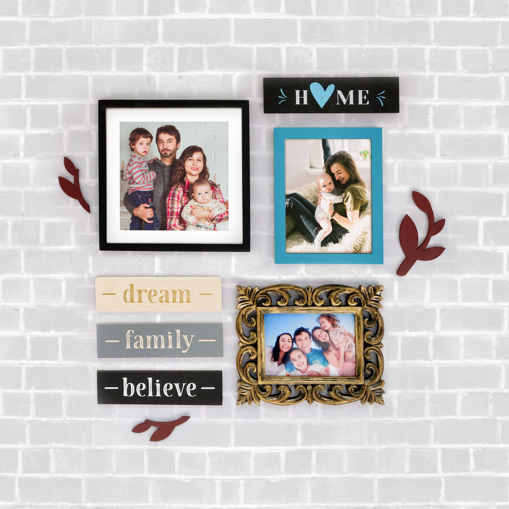 Family Theme 3 DIY Wall Decor Front View
