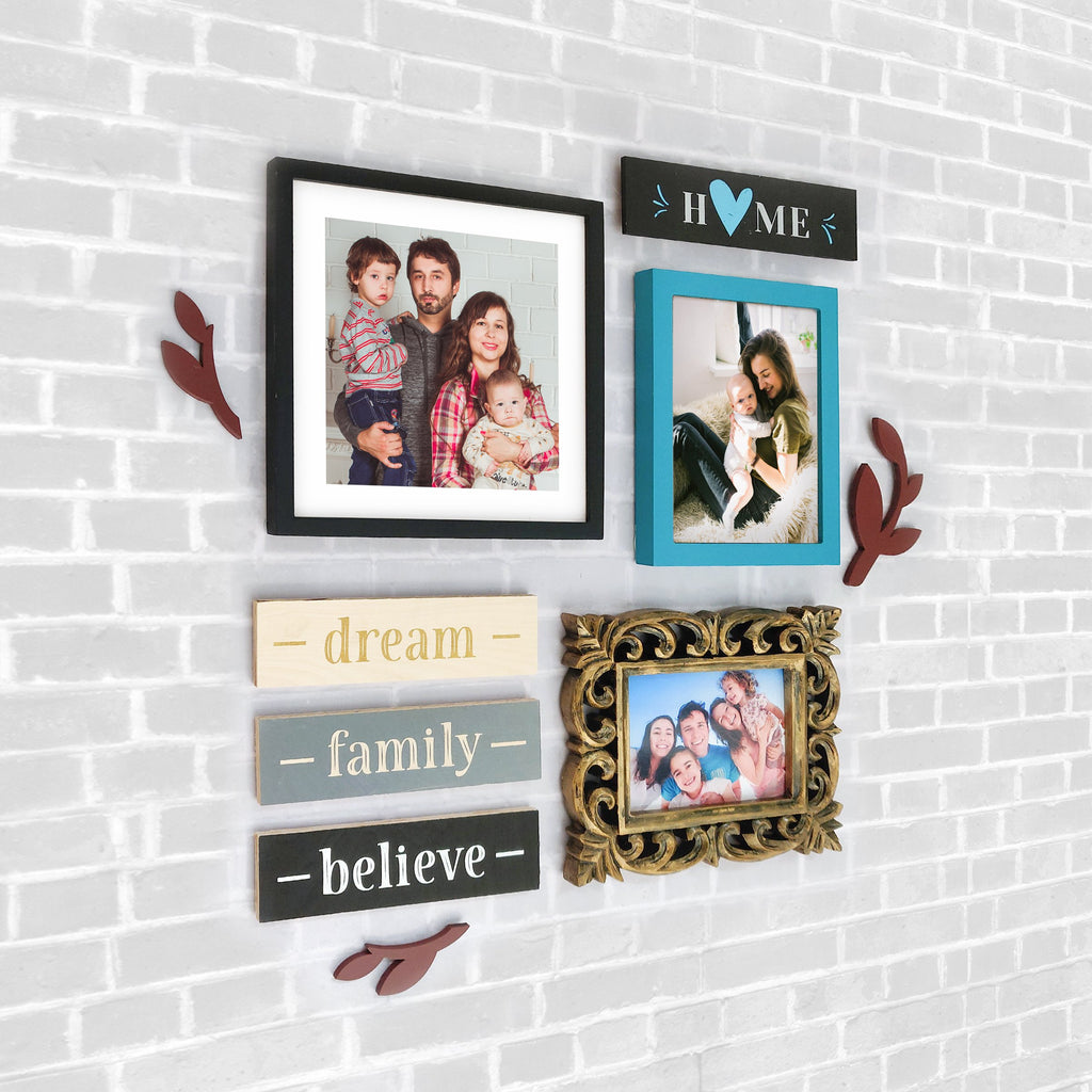 Family Theme 3 DIY Wall Decor Left View