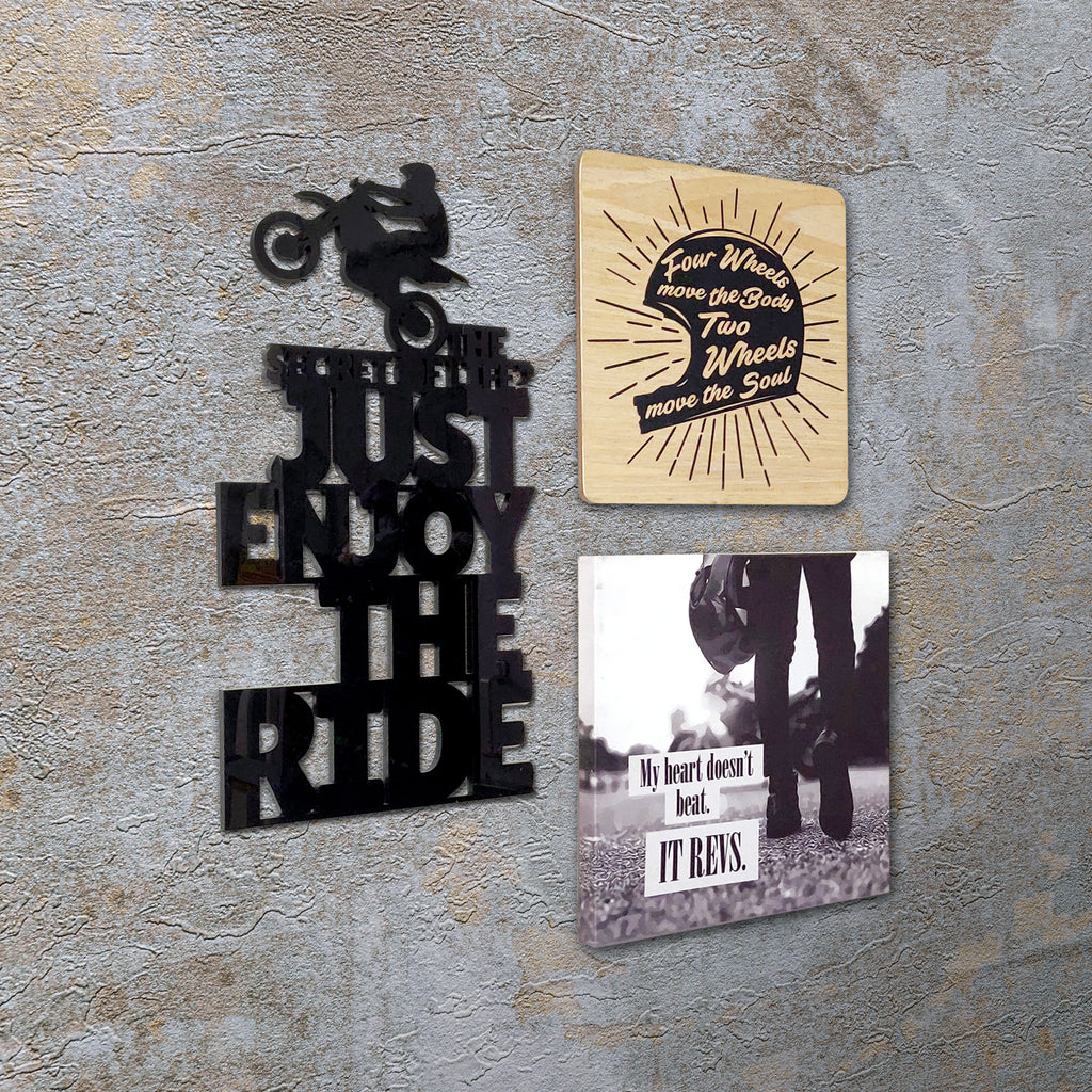 2ftx2ft Motorcycle Theme DIY Wall Decor Left View