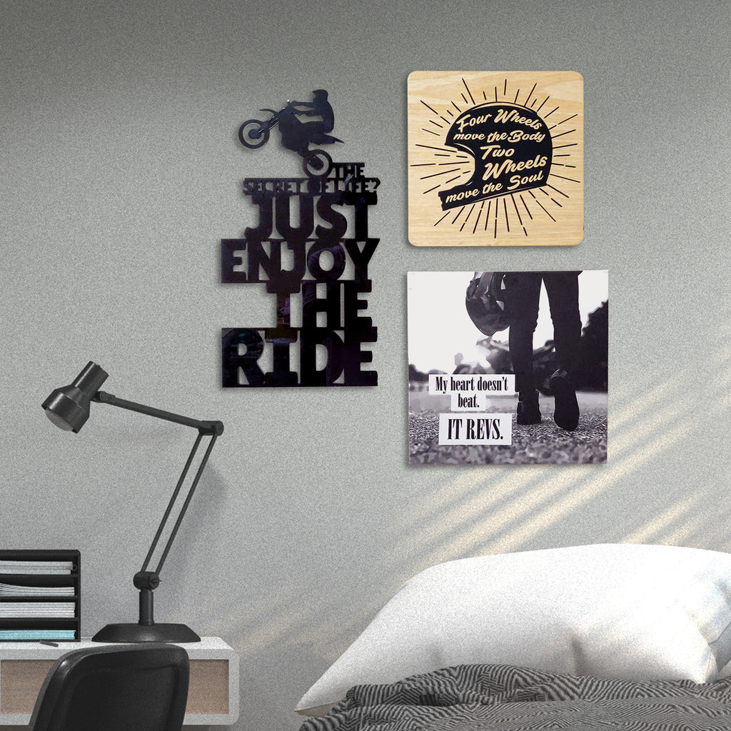 2ftx2ft Motorcycle Theme DIY Wall Decor Mock