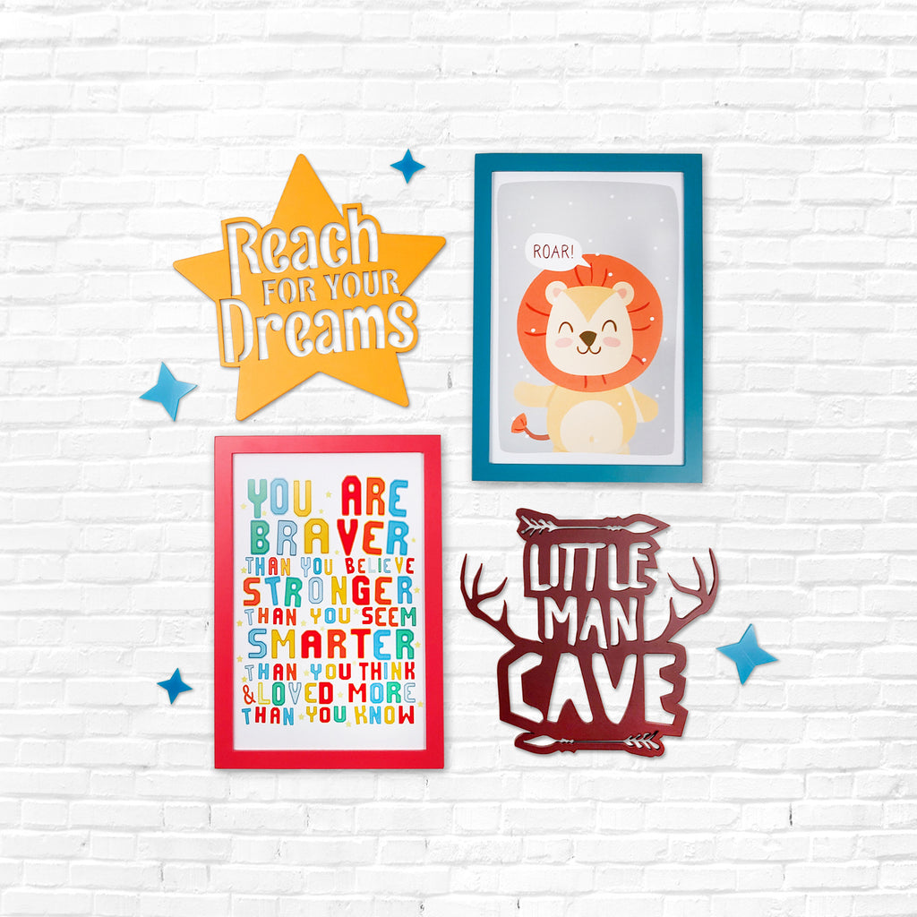 2ftx2ft Nursery Boys Theme DIY Wall Decor Front View