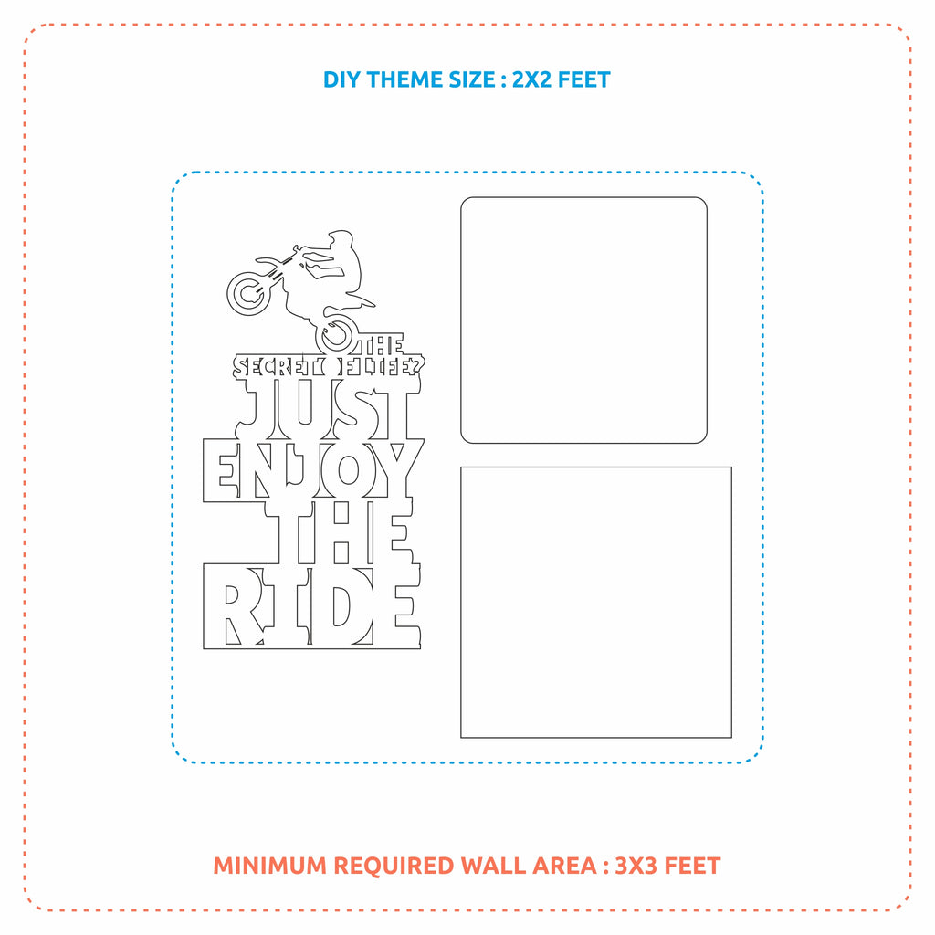 2ftx2ft Motorcycle Theme DIY Wall Decor Map