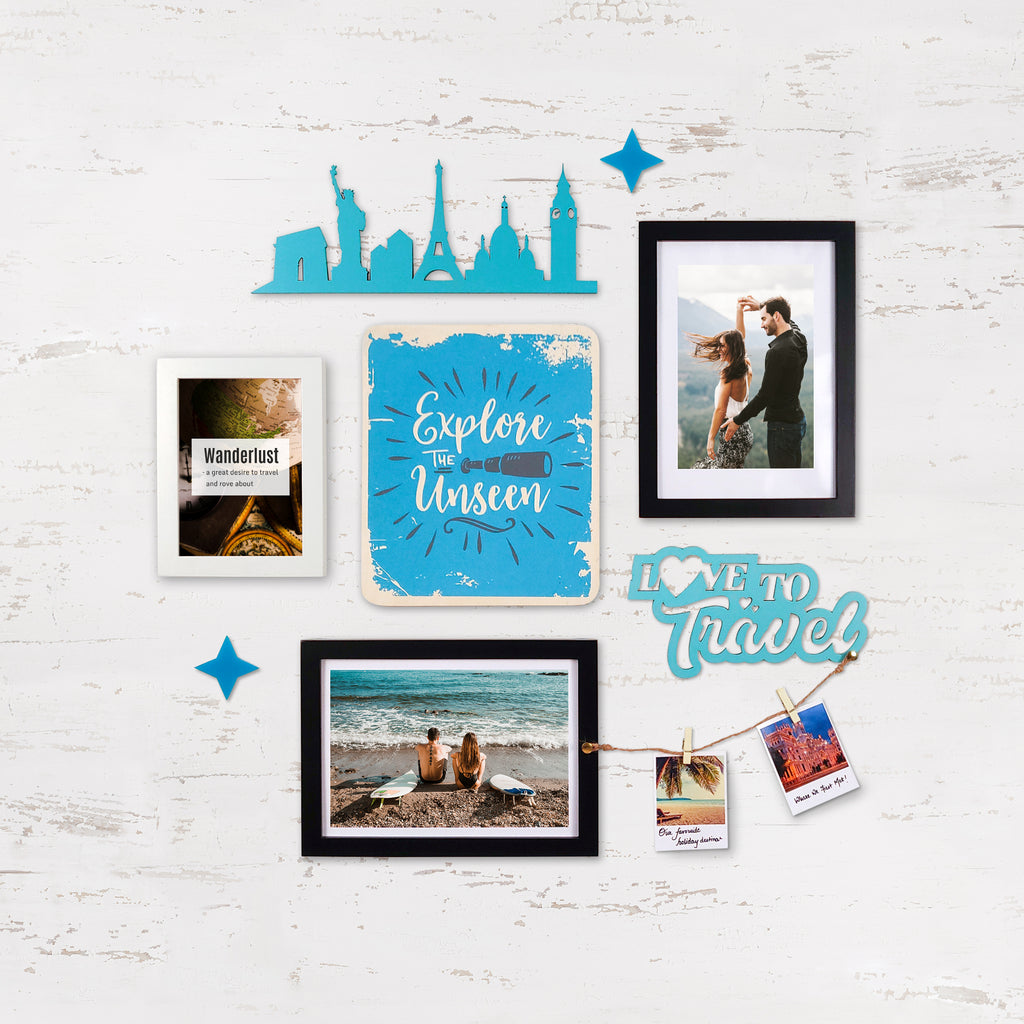 2ftx2ft Travel Theme DIY Wall Decor Front View