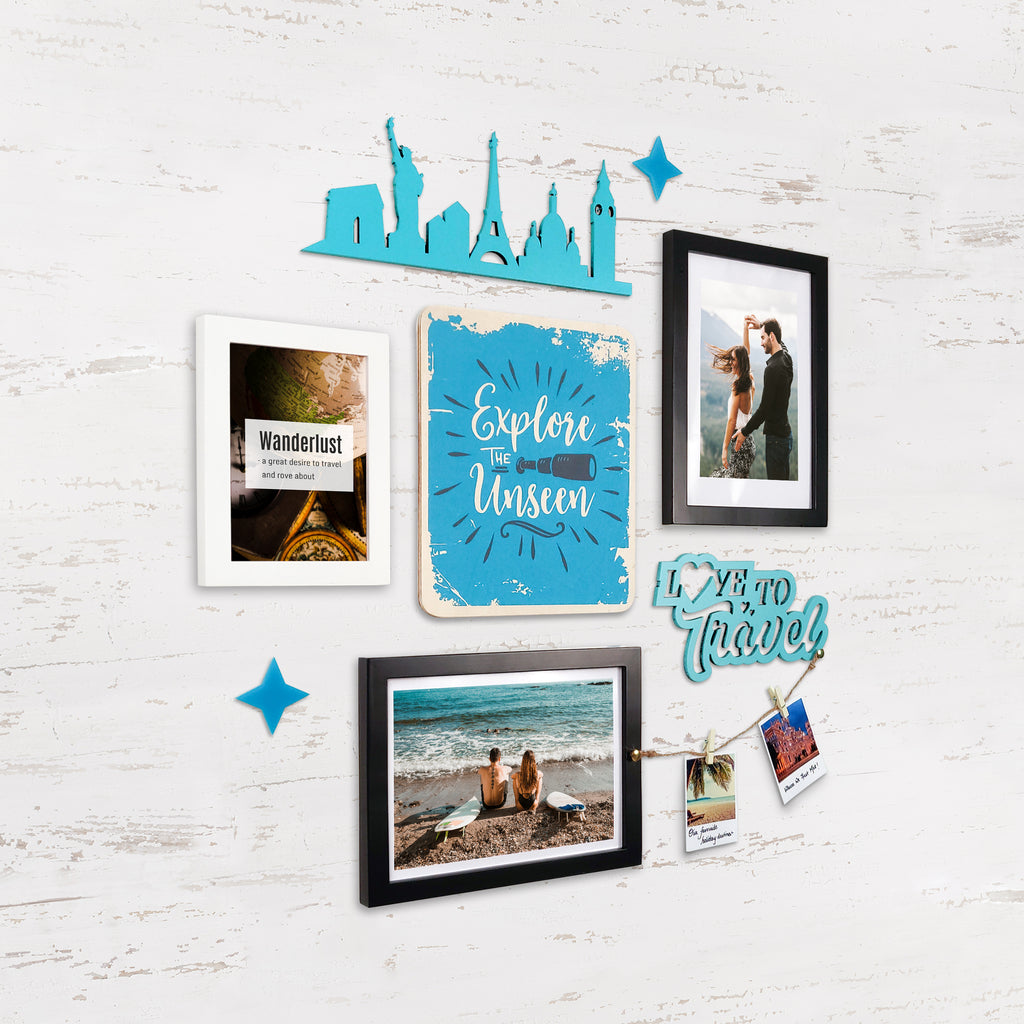 2ftx2ft Travel Theme DIY Wall Decor Left View