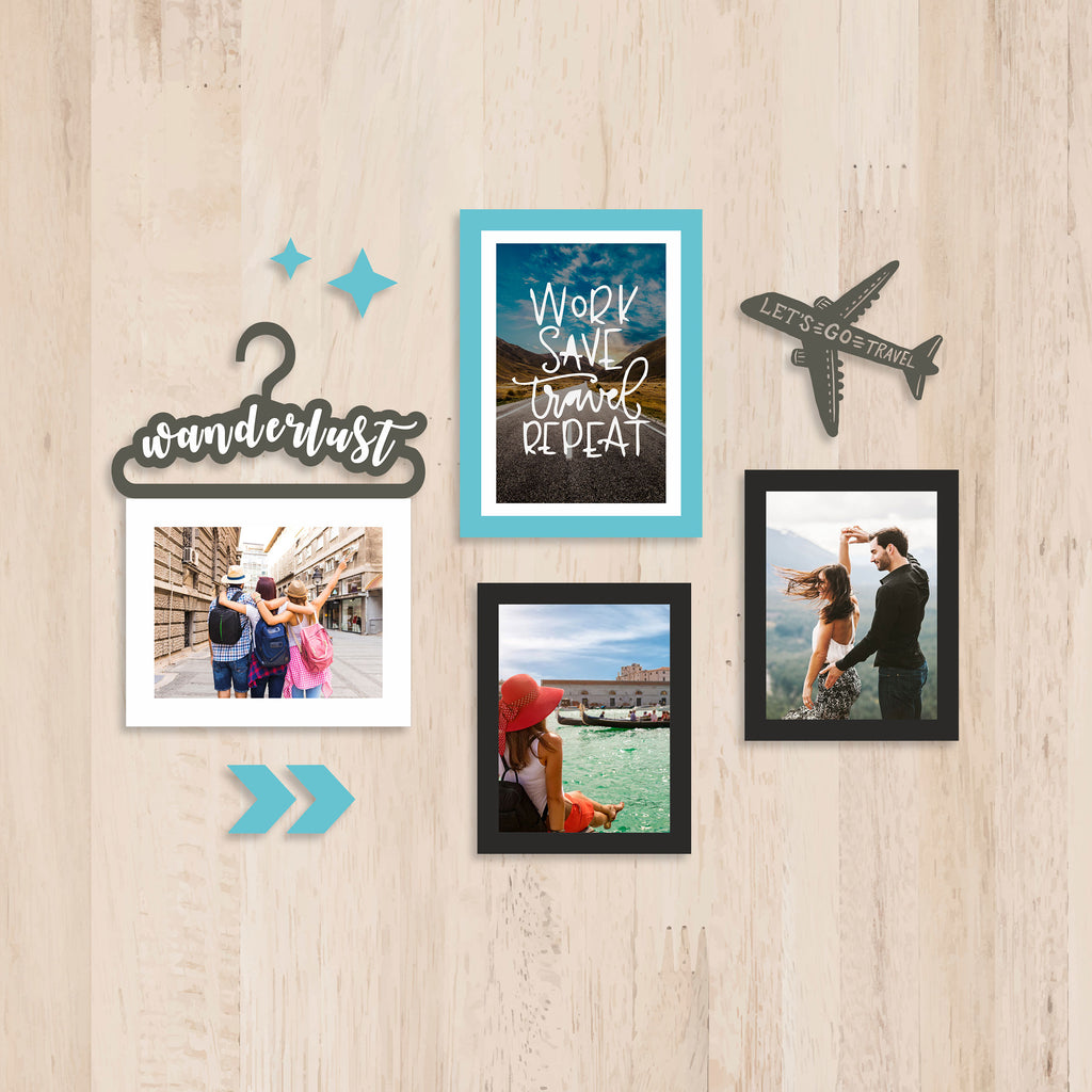 Travel 3 Photo Wall, Size 2x2 Feet
