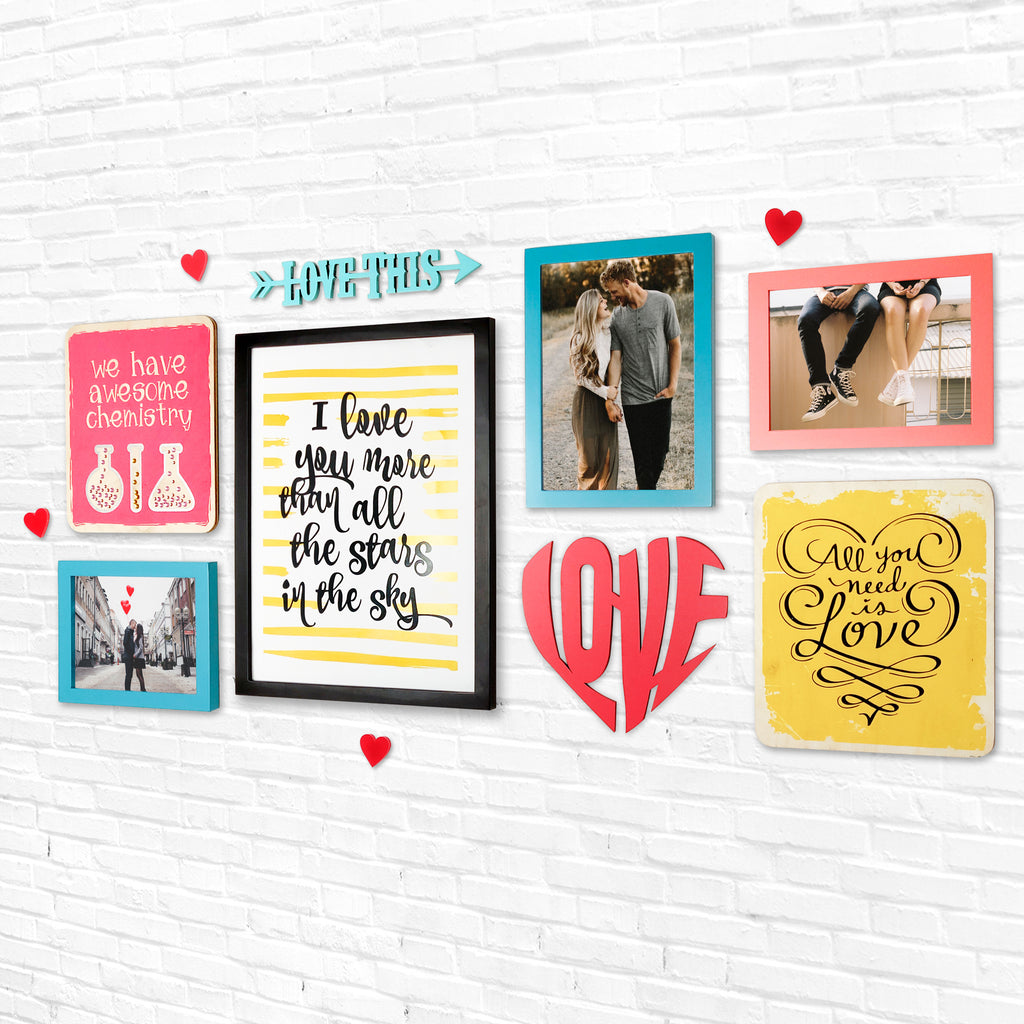 4ftx2ft Love Theme DIY Wall Decor Right View