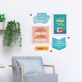 2ftx2ft Books Theme DIY Wall Decor Mock
