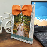 Photo Desk Board With Orange Coloured Jute Bow Mock