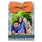 Photo Desk Board With Orange Coloured Jute Bow Front