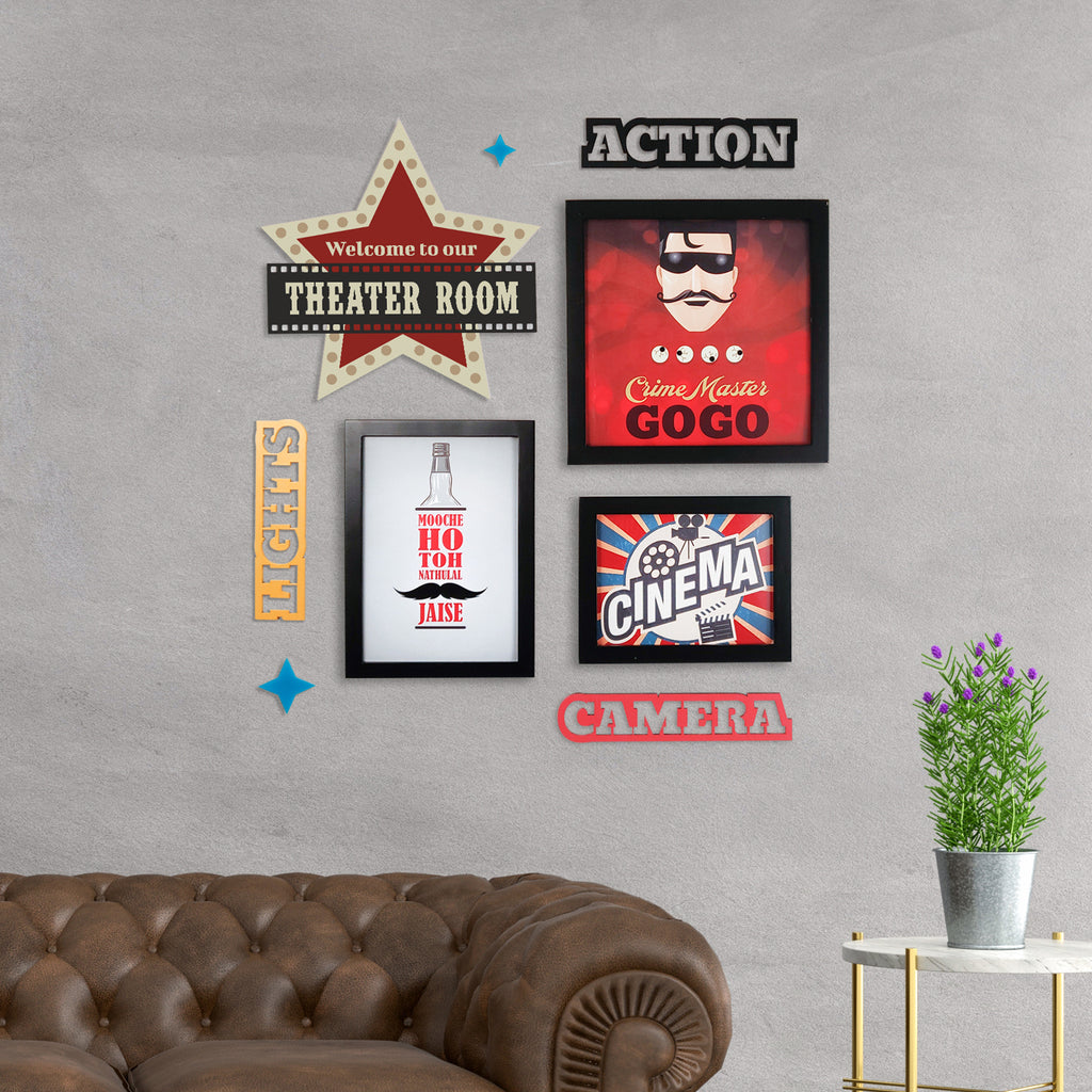 2ftx2ft Cinema Theme DIY Wall Decor Mock