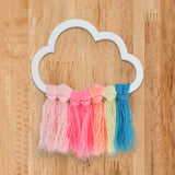 Rainbow Cloud Wooden Accent Front View
