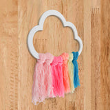 Rainbow Cloud Wooden Accent Left View