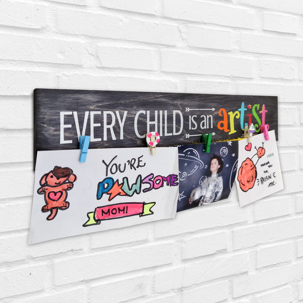 Every Child Is An Artist Photo Hanger Left View