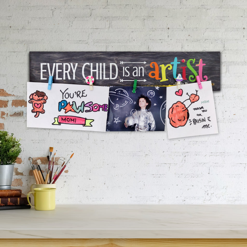 Every Child Is An Artist Photo Hanger Mock