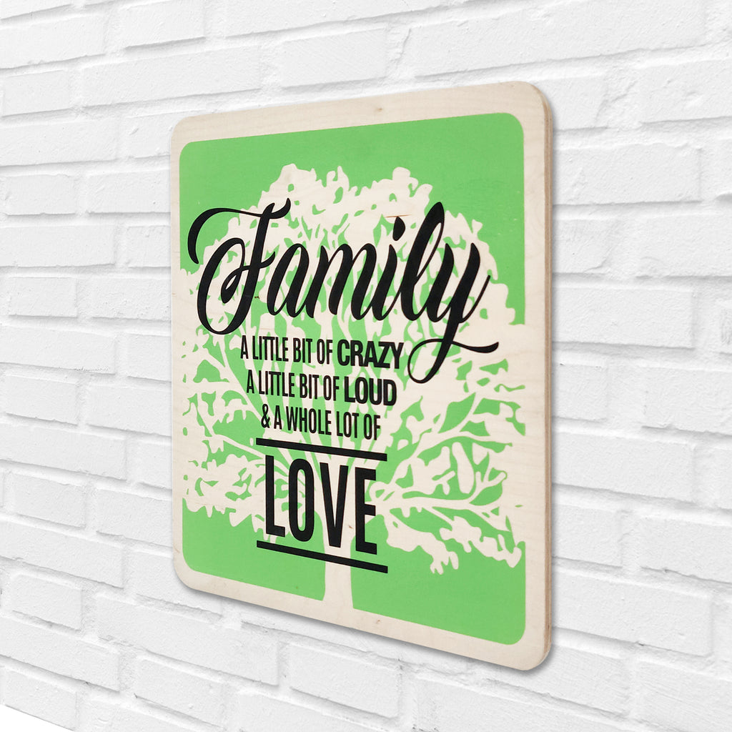 Family & A Whole Lot Of Love Wooden Board Right View