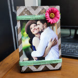 Photo Desk Board With Coloured Flower
