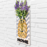Home Key Holder Floral Wooden Board Right View