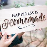 Happiness Is Homemade Wooden Board, Size 6x12.5 Inches