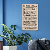 House Rules Wooden Board Mock