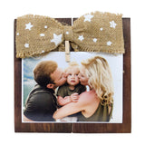 Photo Desk Board With Jute Bow Front