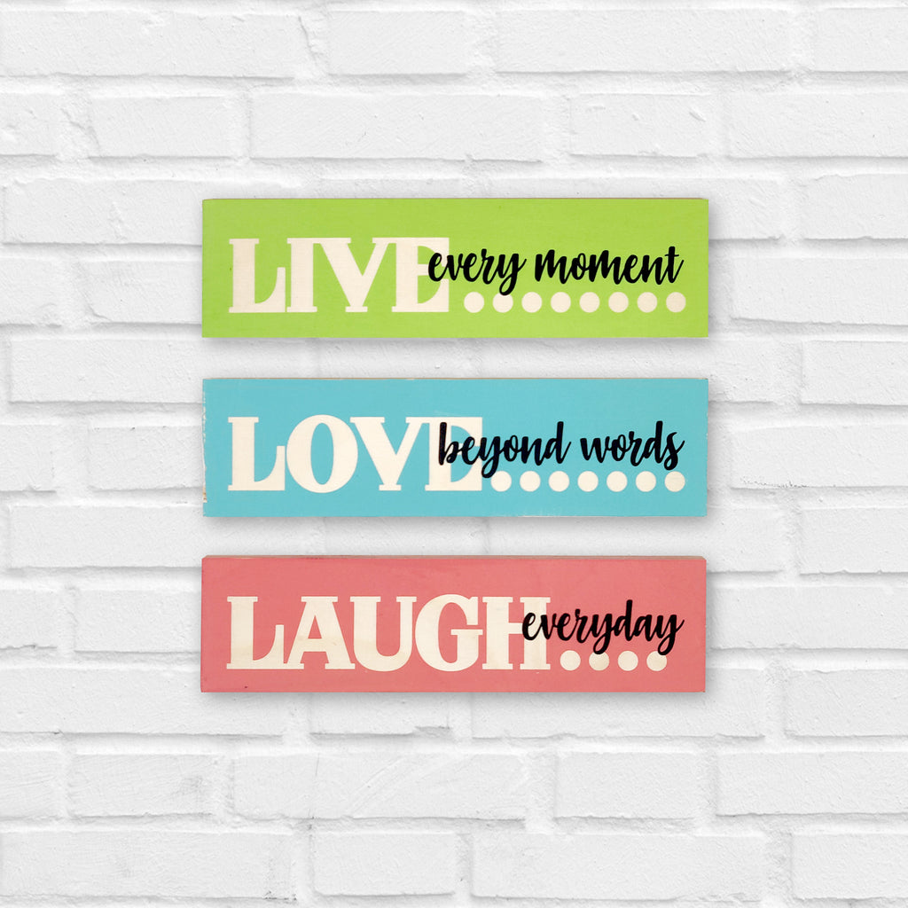 Live Love Laugh Wooden Planks Front View