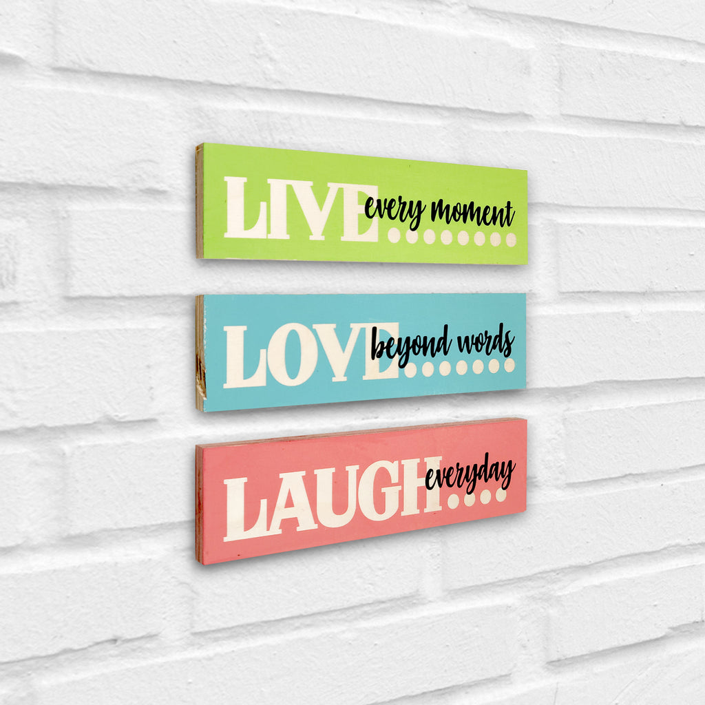 Live Love Laugh Wooden Planks Left View