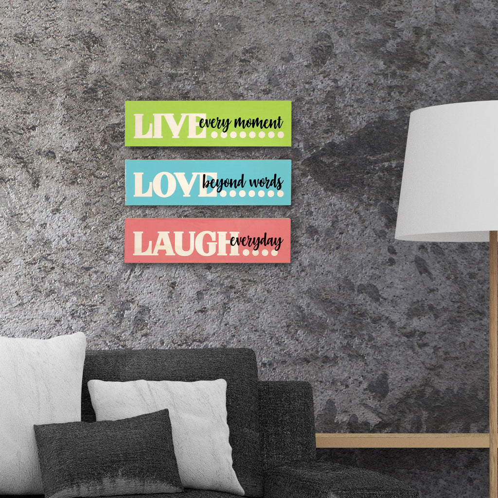 Live Love Laugh Wooden Planks Mock