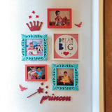 Princess Pastel Photo Wall, Size 3x2 Feet