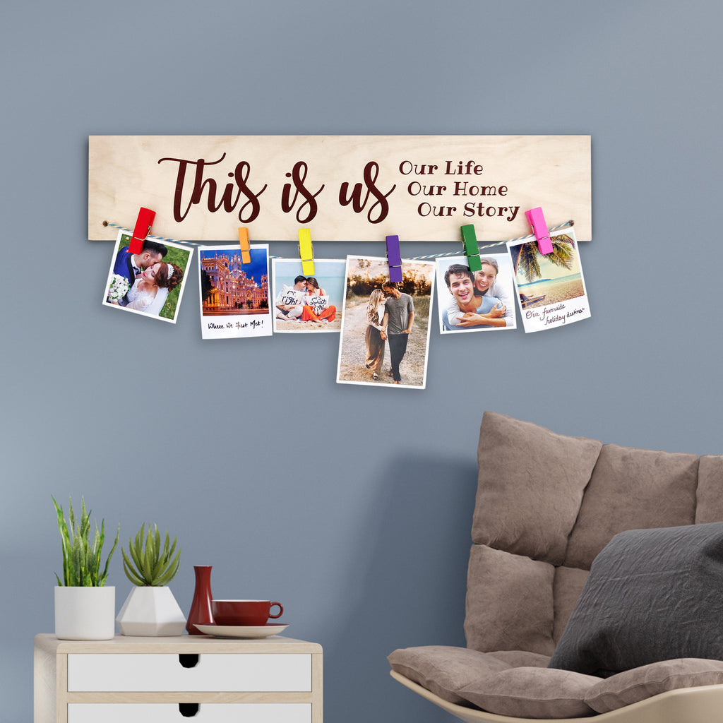 This Is Us Photo Hanger Mock