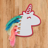 Unicorn Rainbow Hair Wooden Accent Front View