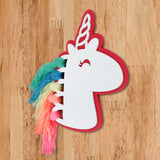 Unicorn Rainbow Hair Wooden Accent Right View